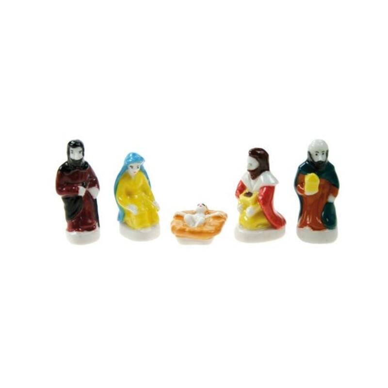F ves santons assortis en porcelaine cerf dellier - Feve pour galette des rois ...