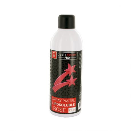 Spray liposoluble rose pastel Patisdécor 400 ml