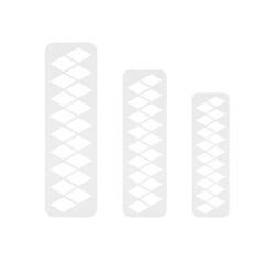 Découpoirs géométriques losanges PME (x3)