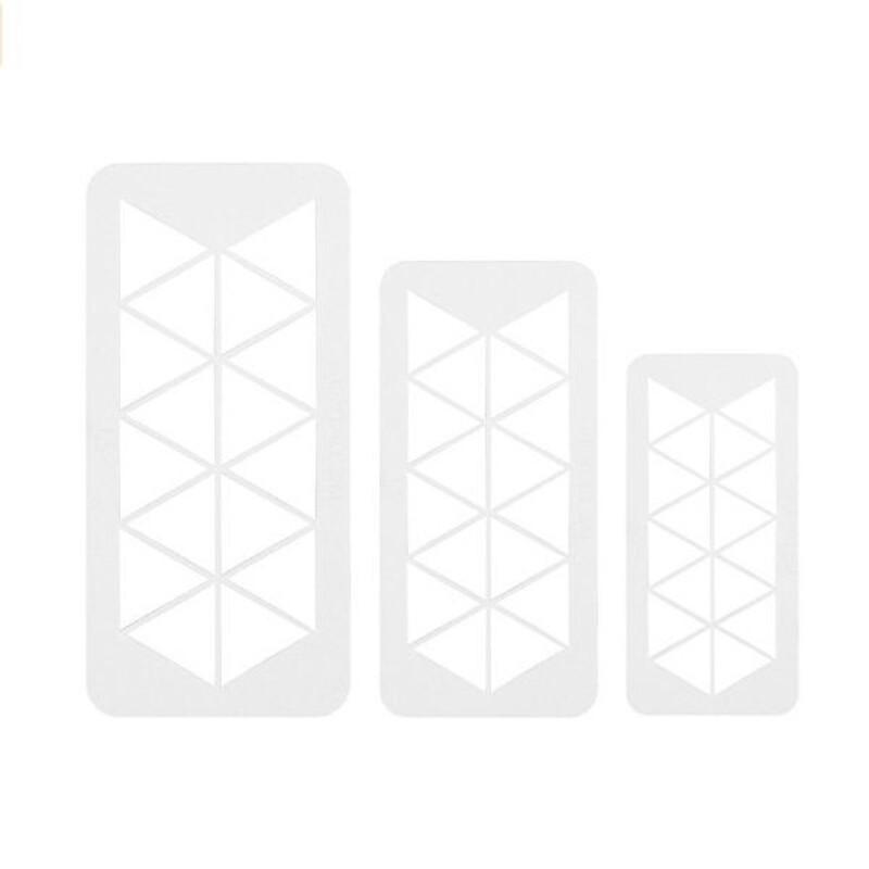 Découpoirs géométriques triangles PME (x3)