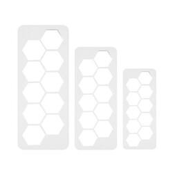 Découpoirs géométriques hexagones PME (x3)