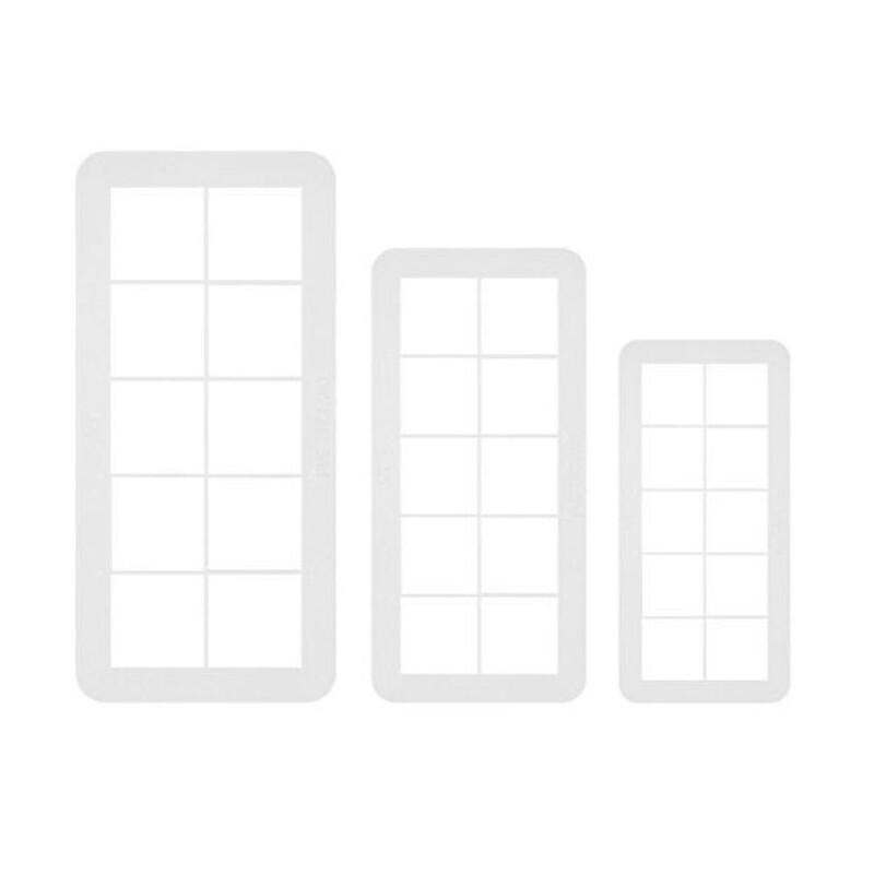 Découpoirs géométriques carrés PME (x3)