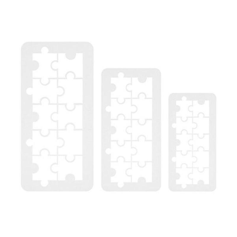 Découpoirs géométriques puzzle PME (x3)