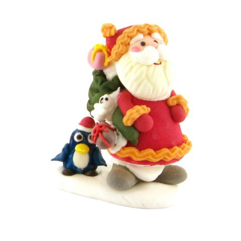 Décor comestible Père Noël debout 7 cm