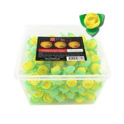 150 boutons de roses jaunes en azyme Patisdécor Pro