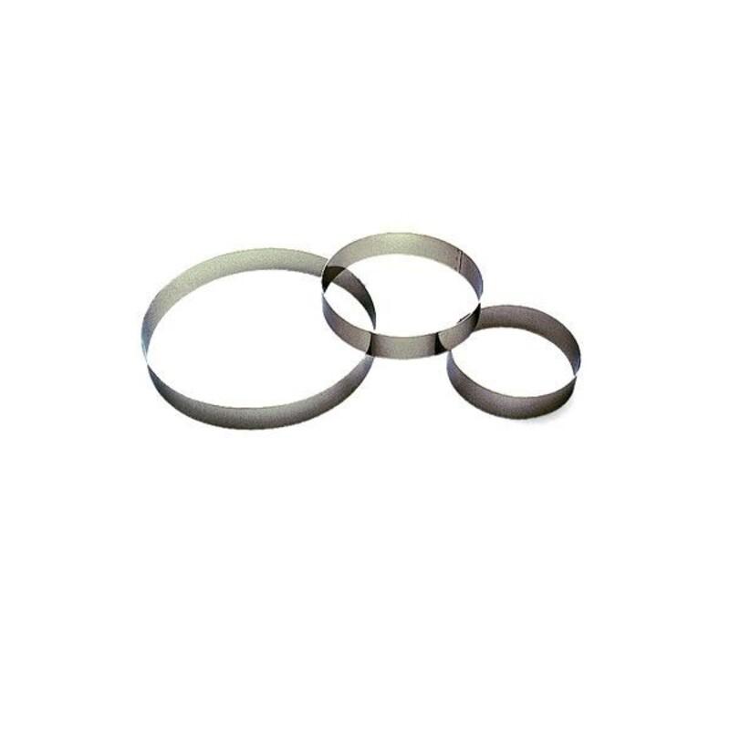 Cercle à entremets inox 22 cm