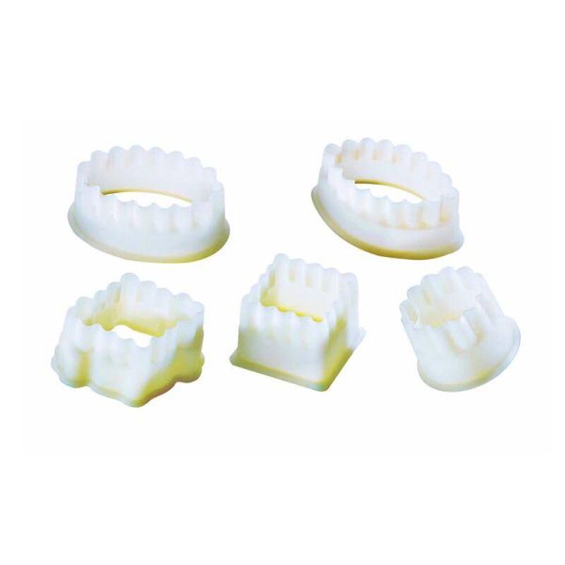 Découpoirs cannelés assortis polyglass (x5)