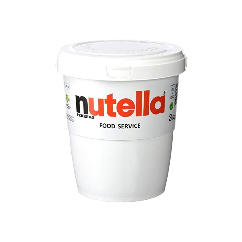 nutella pot g ant 3 kg p te tartiner cerf dellier. Black Bedroom Furniture Sets. Home Design Ideas