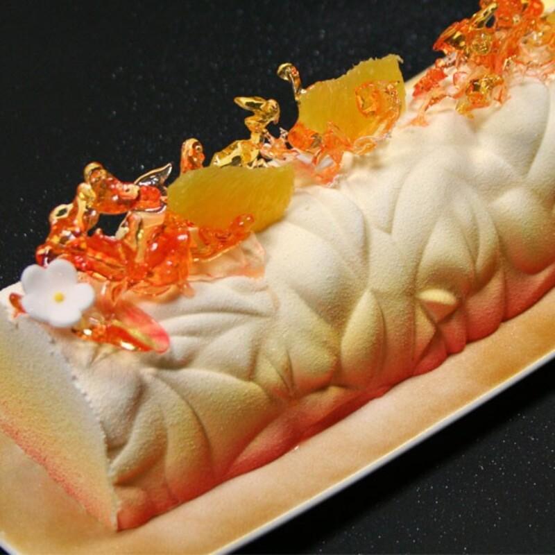 Pack décors de buche en sucre