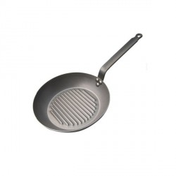 Poêle Grill ronde Carbone Plus De Buyer 26 cm