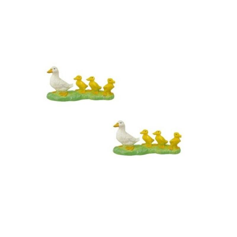 Décor pâtissier canards plastique (x50)