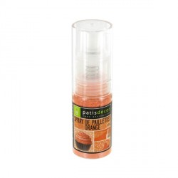 Spray de paillettes orange Patisdécor 10 g