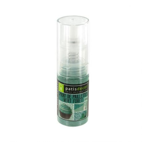 Spray De Paillettes Vert Foret Patisdecor 10 G