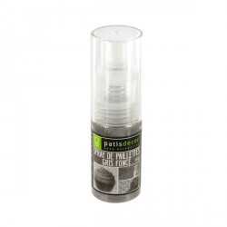 Spray de paillettes gris foncé Patisdécor 10 g