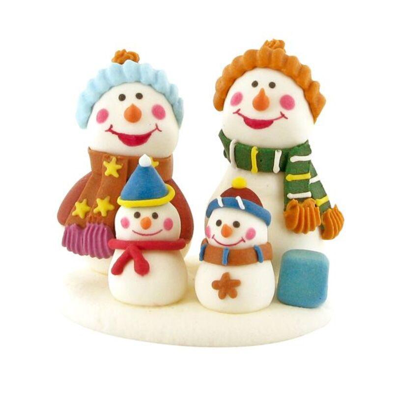 Décors comestibles Famille bonshommes de neige (x20)