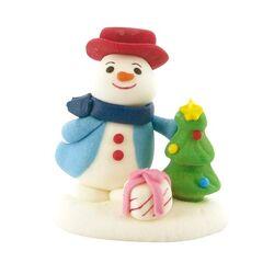 Décors comestibles bonhomme de neige cadeau (x24)
