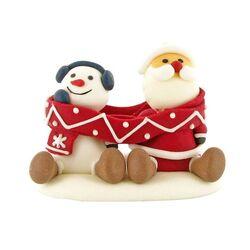 Décor Père Noël et Bonhomme de neige Echarpe