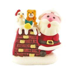 Décor Père Noël Cheminée