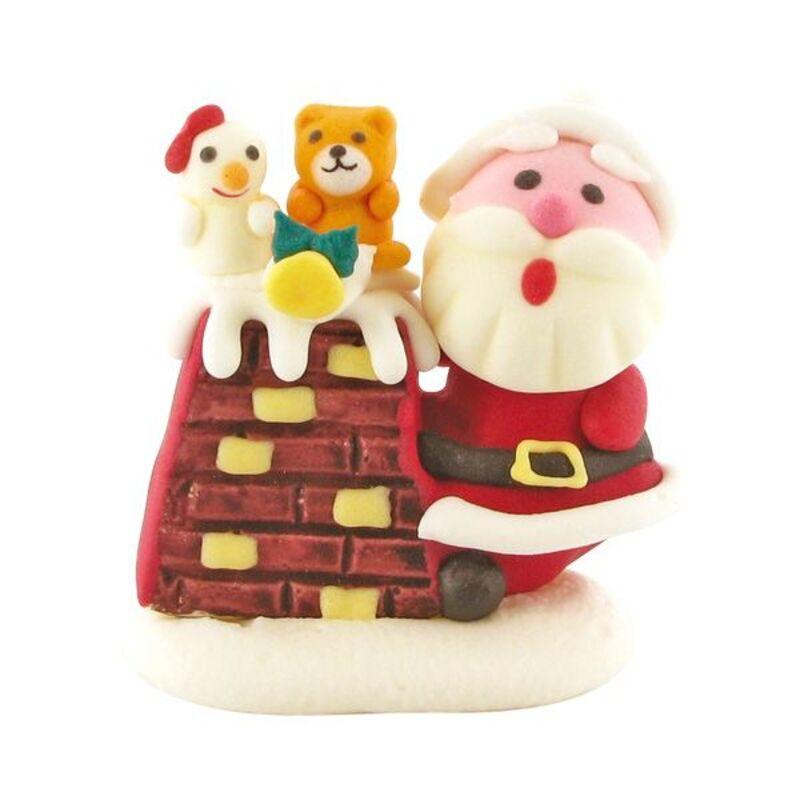 Décors comestibles Père Noël à côté de la cheminée (x20)