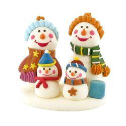 Décor Famille de bonshommes de neige