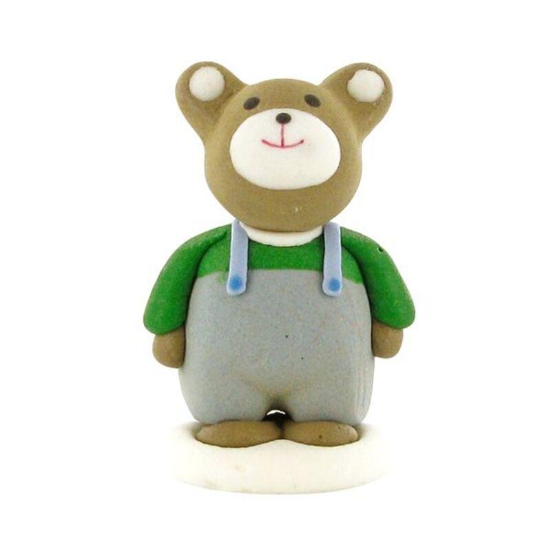 Décors comestibles ours en salopette (x24)