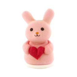 Lapin rose Coeur en sucre