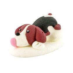 Décors comestibles chiens couchés (x24)