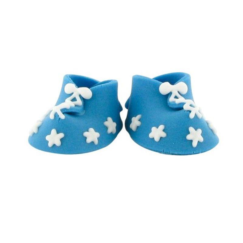 Décors comestibles chaussons bleus (x24)