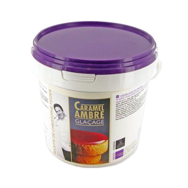 Glaçage Caramel Ambre à chaud 1 kg sélection Christophe Felder