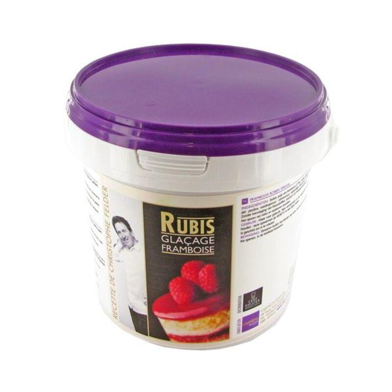 Glaçage Rubis Framboise à chaud 1 kg sélection Christophe Felder
