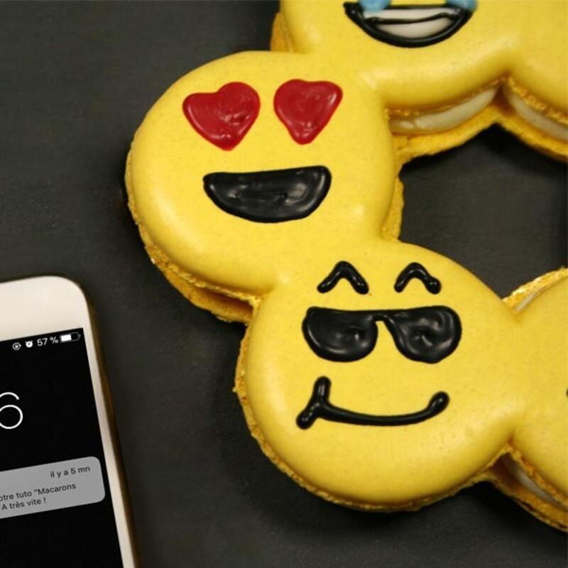Macarons smileys
