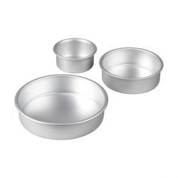 Moules alu ronds assortis Wilton (x3)