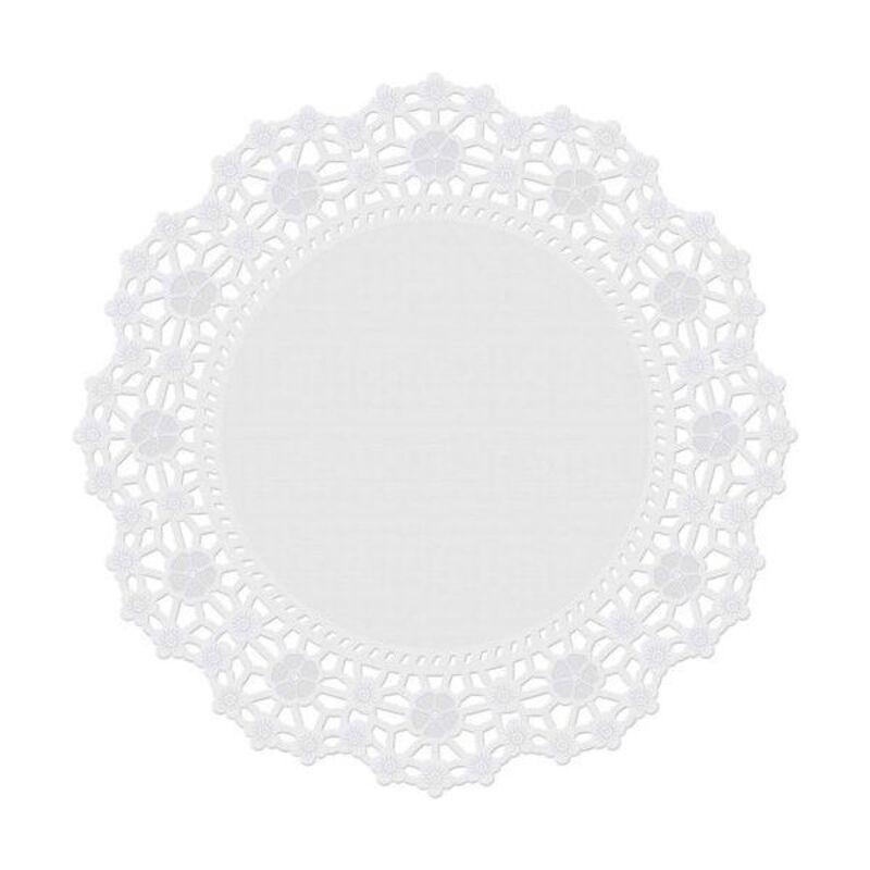 Dentelle gâteau blanche 25 cm Wilton (x10)