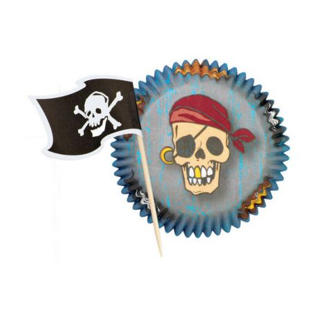Kit déco cupcakes Pirates Wilton (x24)