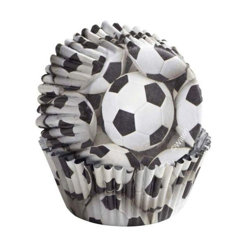 Caissette cupcake ballon de foot Wilton (x36)