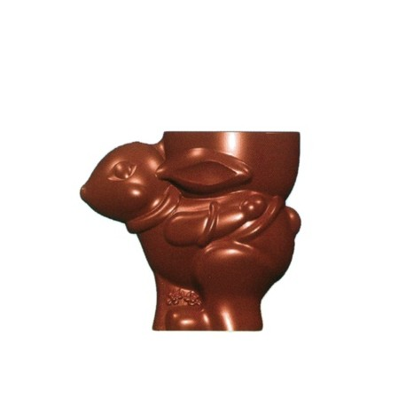 Moule chocolat lapin coquetier