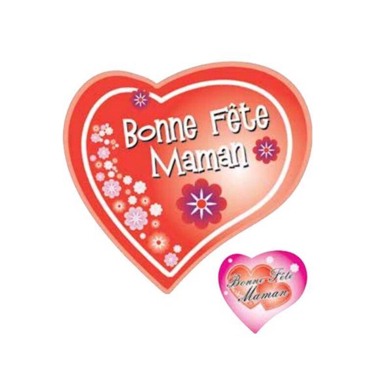 Coeurs azyme Bonne fête Maman assortis (x24)