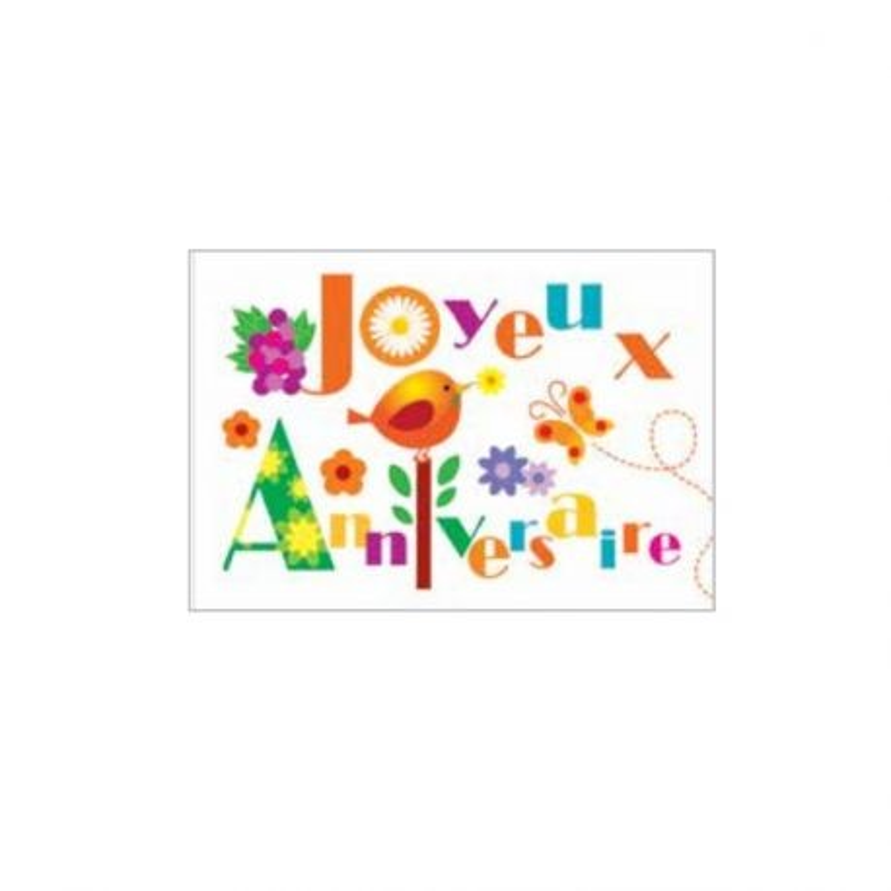Rectangle azyme Joyeux Anniversaire (x24)