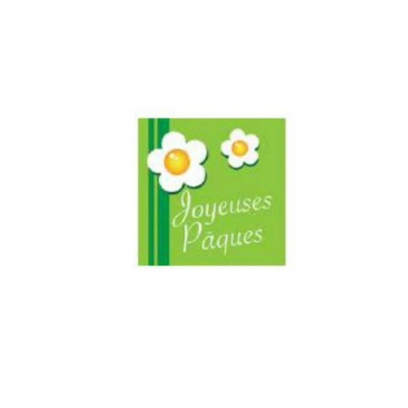 Carrés azyme Joyeuses Pâques (x24)