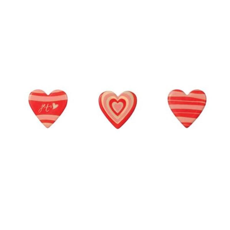 Coeurs en chocolat bicolores (x160)