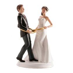 Couple mariés Alliances 20 cm