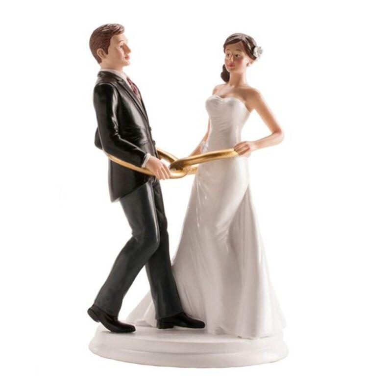 Couple mariés Anneaux 20 cm