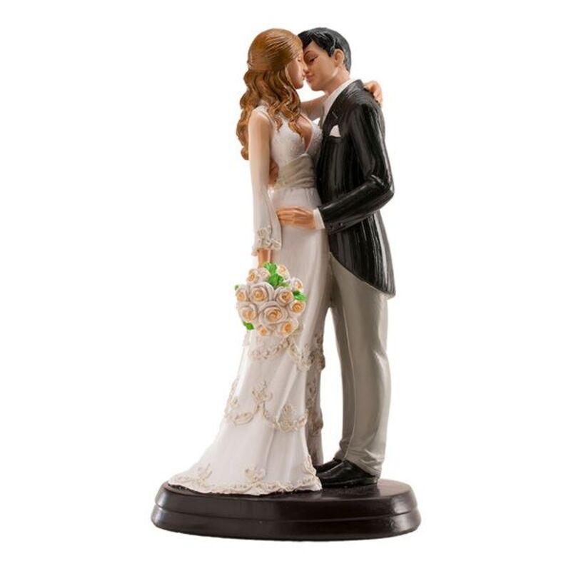 Couple mariés s'embrassant 18 cm