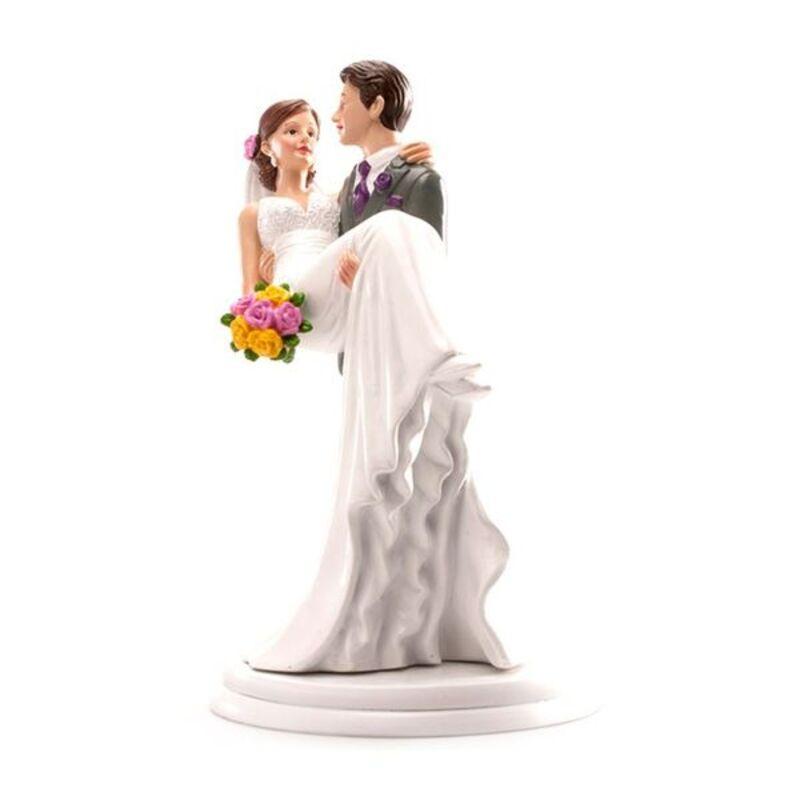 Couple mariés dans les bras 20 cm