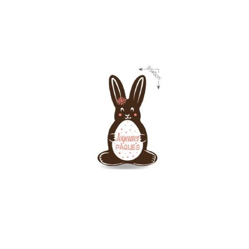 Lapin en chocolat Joyeuses Pâques (x96)
