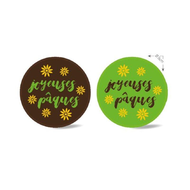 Ronds en chocolat Joyeuses Pâques assortis (x80)