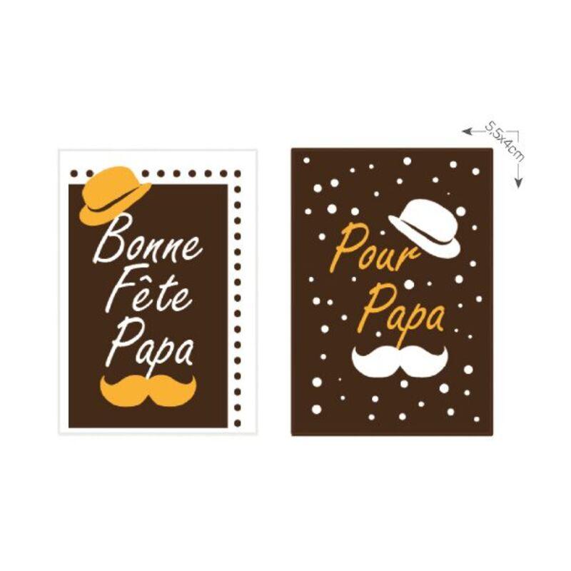 Rectangle en chocolat Bonne Fête Papa assortis (x50)
