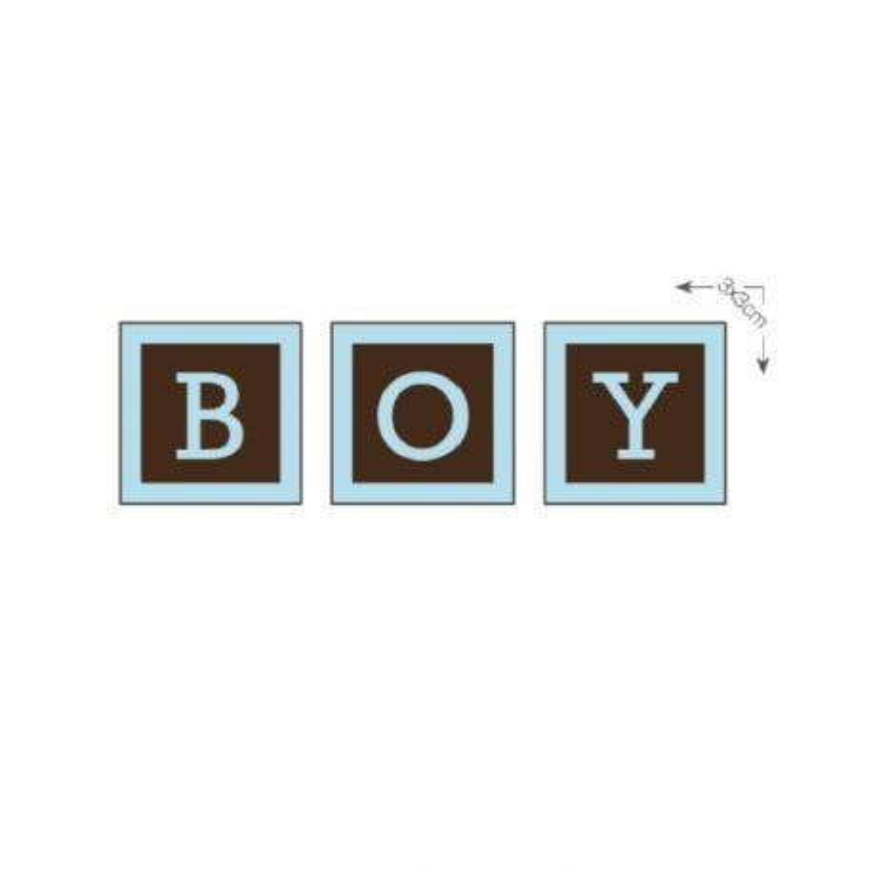 Carrés chocolat noir Boy (x48)