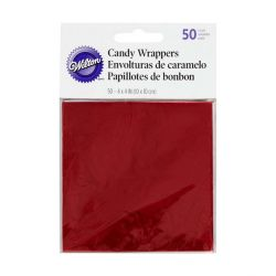 Papier emballage bonbon rouge Wilton (x50)