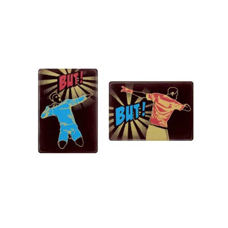 """Rectangles en chocolat """"Allez les Bleus"""" (x48)"""